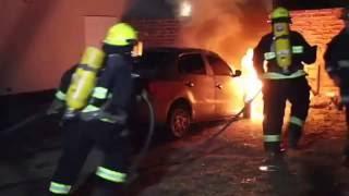 Un auto se prendió fuego en barrio Federal