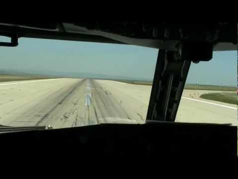 Landing in Burgas cockpit
