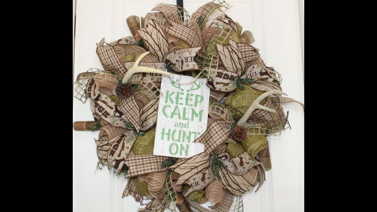 1f4cedeba13fa How to make a poof curl hunting wreath - YouTube