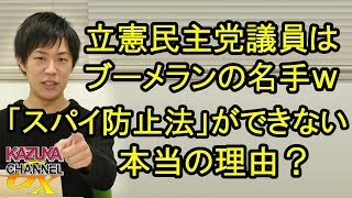 立憲民主党はブーメランの名手ぞろい!日本でいわゆる「スパイ防止法」ができない理由とは?