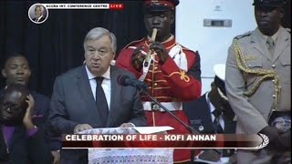 Funeral of Kofi Annan - Remarks by António Guterres (UN Secretary-General)