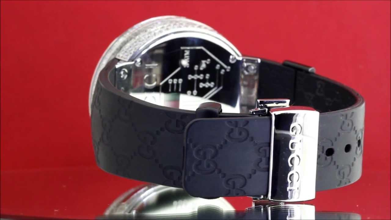 gucci 1142. 10ct diamond gucci watch stainless steel \u0026 rubber model 1142 digital - youtube u