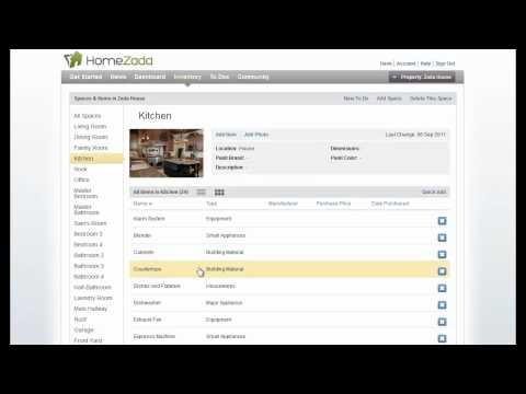Basic HomeZada Home Inventory Training Video | Home Management Software