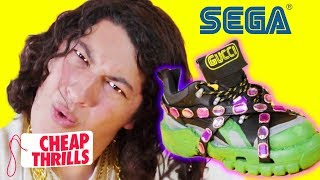 diy gucci x sega sneakers cheap thrills