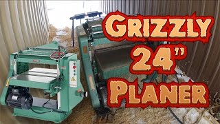 "Woodworking: Grizzly Model G5851 24"" Planer (5hp)"