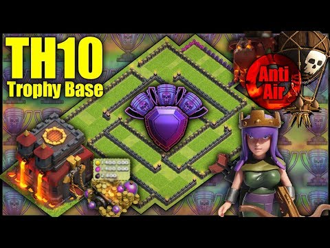 UNBEATABLE TH10 [Town Hall 10] Trophy Base! W/ Replays | Anti Air - Clash Of Clans