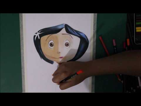 Speed Drawing - Coroline Y La Puerta Secreta