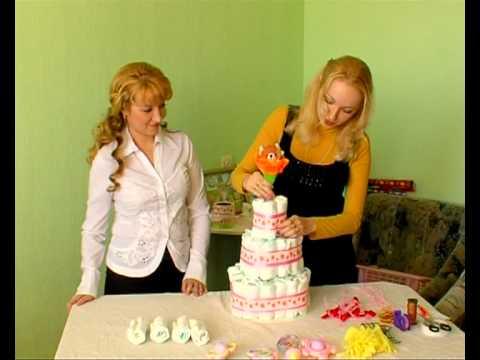 видео торт из памперсов своими руками