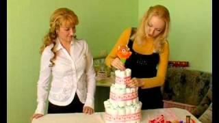 Торт из памперсов мастер-класс и описание, ТМ  Lepkind(, 2011-03-09T09:59:32.000Z)