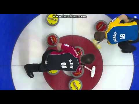 Kevin Koe amazing draw