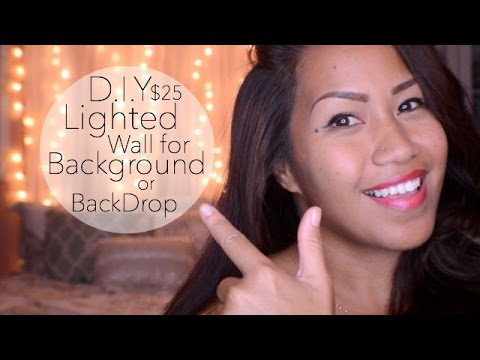 Diy 25 lighted wall backgroundbackdrop youtube diy 25 lighted wall backgroundbackdrop solutioingenieria Choice Image
