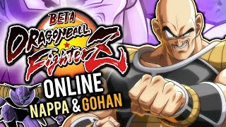 IT'S OVER 9.000!!! | Dragon Ball FighterZ ONLINE (con Nappa & Adult Gohan) | Gameplay Open Beta