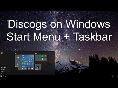 Discogs on Windows -- Start Menu & Taskbar