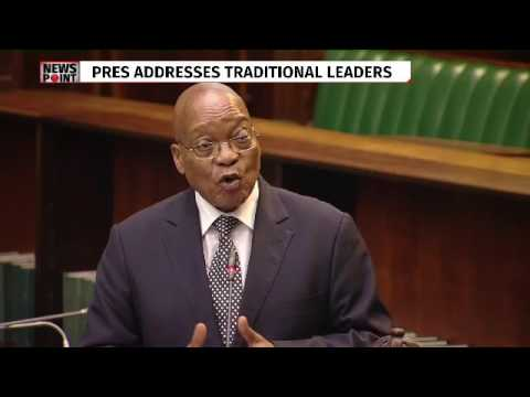 President Zuma addresses traditional leaders