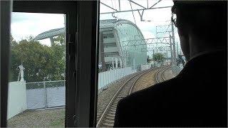 2018(平成30)年4月25日 福知山線脱線事故とほぼ同時刻に通過する列車の車内から【伊丹~尼崎】