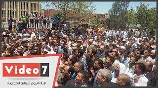 تشييع جنازة الشهيد إسلام شعبان من قرية دموشيا ببنى سويف