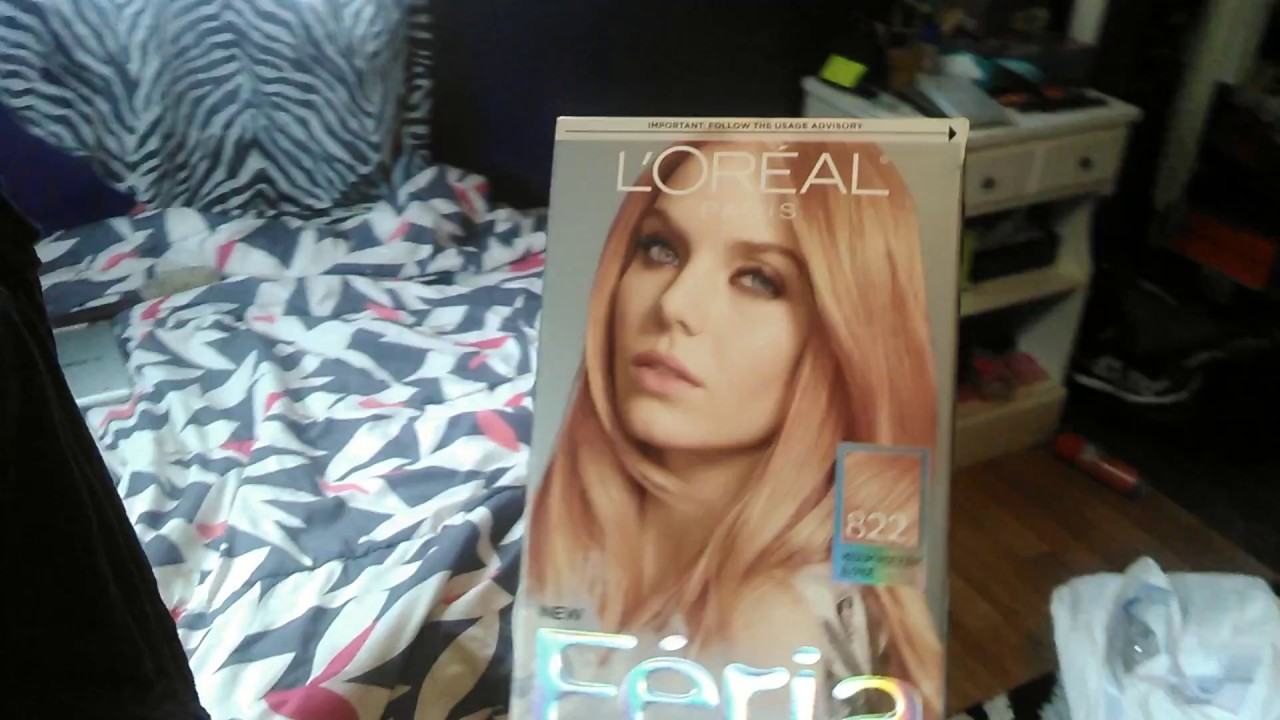Feria Rose Gold Hair Dye Review Youtube