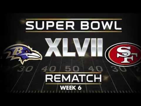 Ravens vs. 49ers (Week 6) Super Bowl XLVII rematch | 50 Years Of Glory | NFL Films