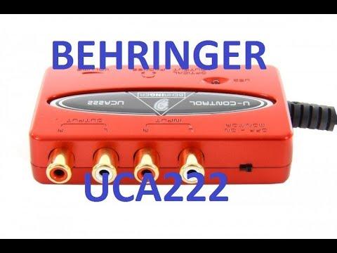 BEHRINGER U-CONTROL UCA222 ОБЗОР, REVIEW