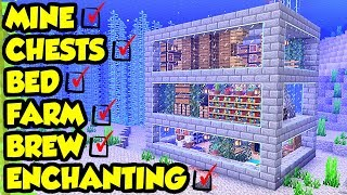 Minecraft Easy Underwater FULL Survival House Tutorial (How to Build)