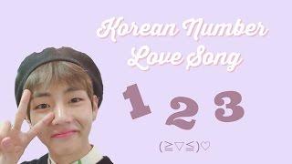 Video BTS V / Taehyung Sings Korean Number Love Song! (+ the original song and lyrics) download MP3, 3GP, MP4, WEBM, AVI, FLV September 2017