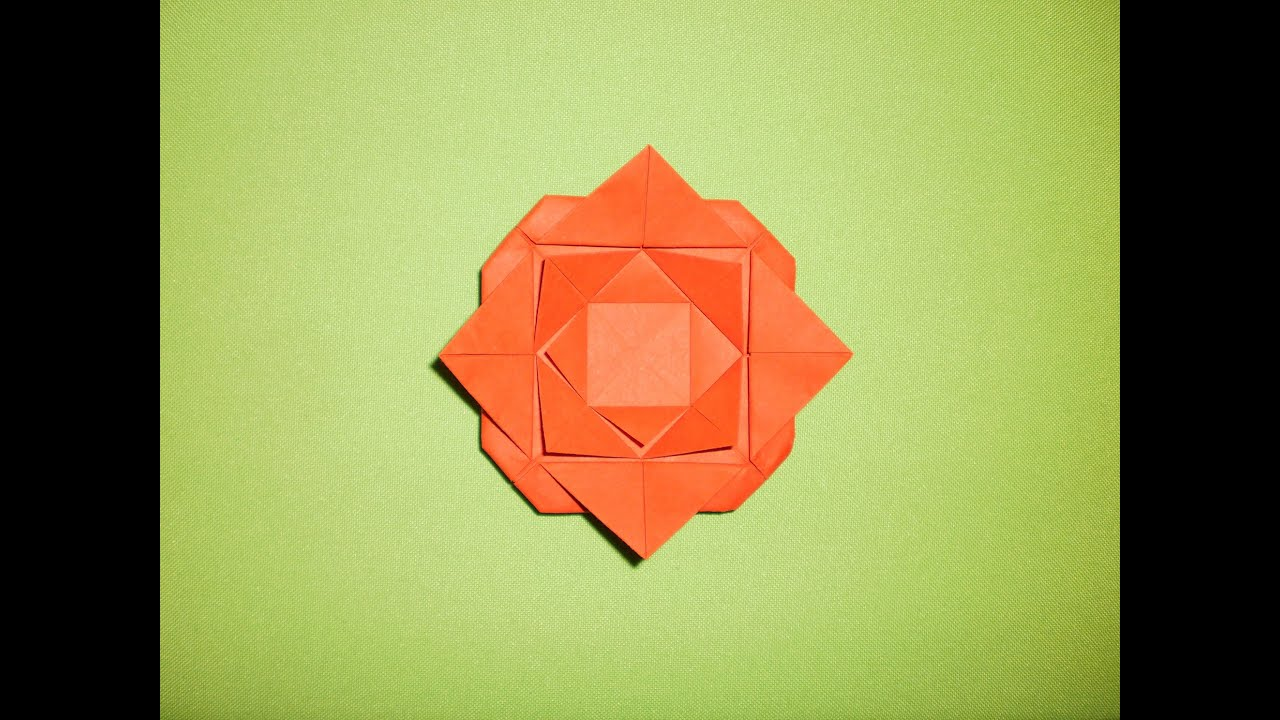 origami 2d rose  how to make