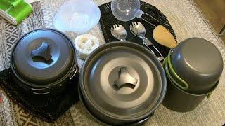 unboxing набор посуды для туриста с Алиэкспресс