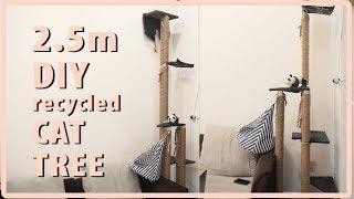 2.5Meters/8Ft DIY CAT TREE, NO DRILL, UNDER $60!