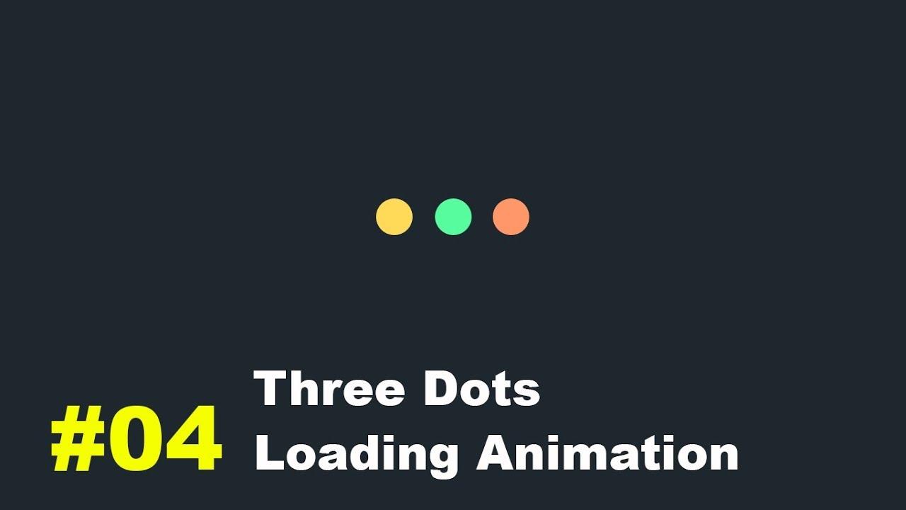 Pure CSS Three Dots Loading Animation 20