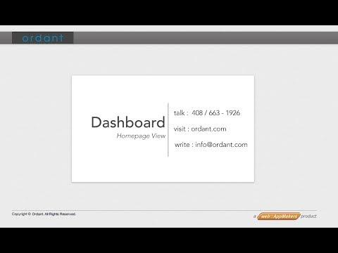 Ordant - Homepage / Dashboard View Tutorial