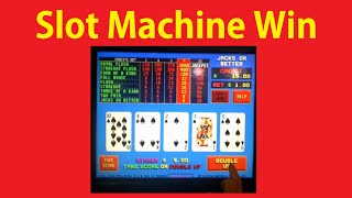 Slot Machine Payout Double Up Jacks or Better Poker Casino Win