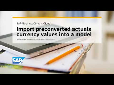 Import preconverted actuals currency values into a model: SAP BusinessObjects Cloud (2017.01.0)