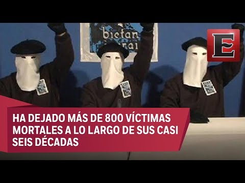 ETA pide perdón a los españoles por el dolor causado por sus ataques