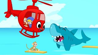 Monkeys Go Missing   My Red Helicopter   Kids Cartoon   Mila and Morphle Official