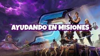AYUDANDO en MISIONES en DIRECTO!! (LEER DESCRIPCION) - Fortnite Salvar el Mundo #Dia147