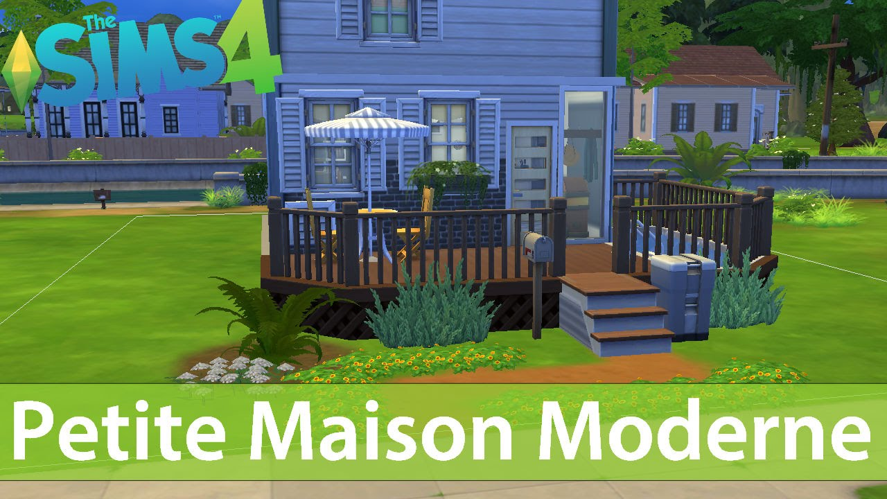 The sims 4 speed build petite maison moderne 6x6 living for Maison moderne sims 4