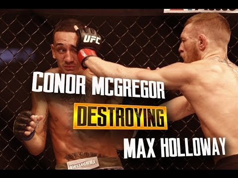 Conor McGregor DESTROYING Max Holloway - UFC Fight Night 26