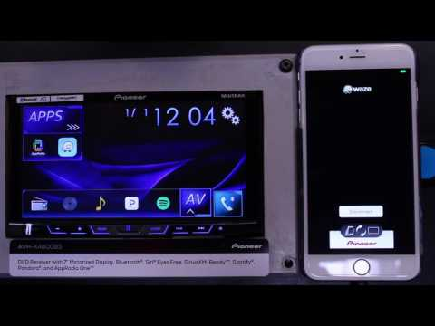 How to activate  the Waze icon on your Pioneer AVH radio