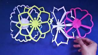Beautiful flower paper pattern for Diwali decoration