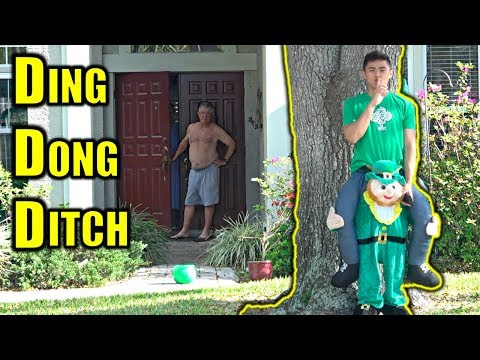DING DONG DITCH In Leprechaun Suit PRANK!