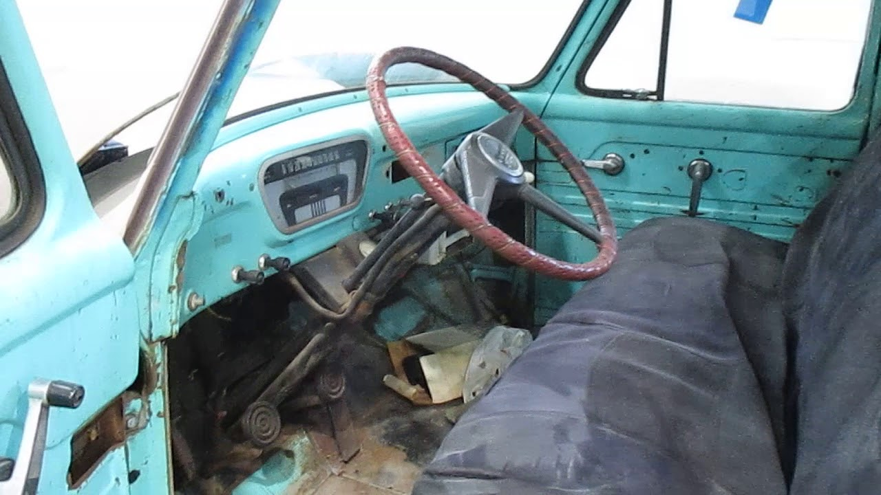 1955 Ford F100 Project Truck For Sale Youtube Pancaked