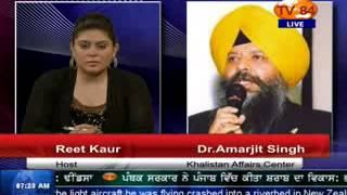 TV84 News 03/24/2014 Part.2 Interview with Dr.Amarjit Singh Khalistan Affairs Center