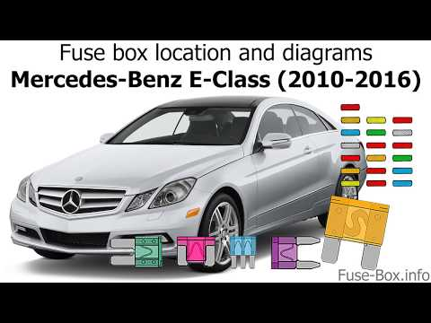 Fuse box location and diagrams: Mercedes-Benz E-Class (2010-2016) - YouTubeYouTube