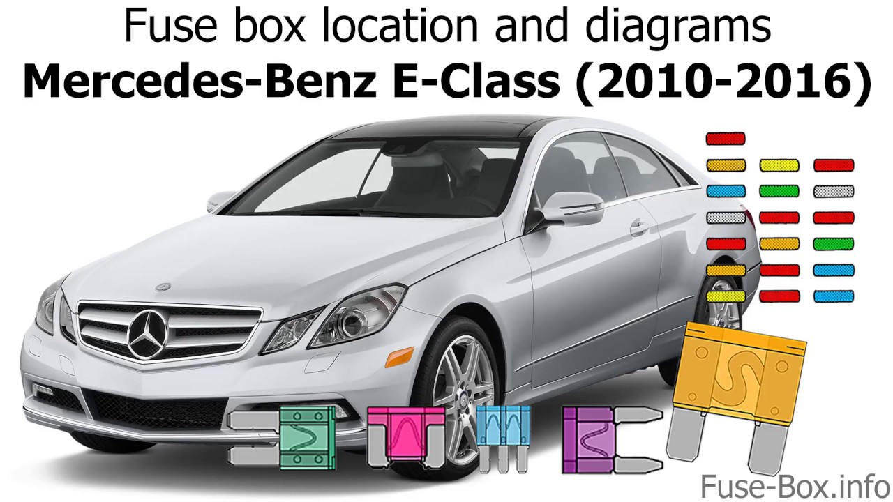 fuse box location and diagrams: mercedes-benz e-class (2010-2016)