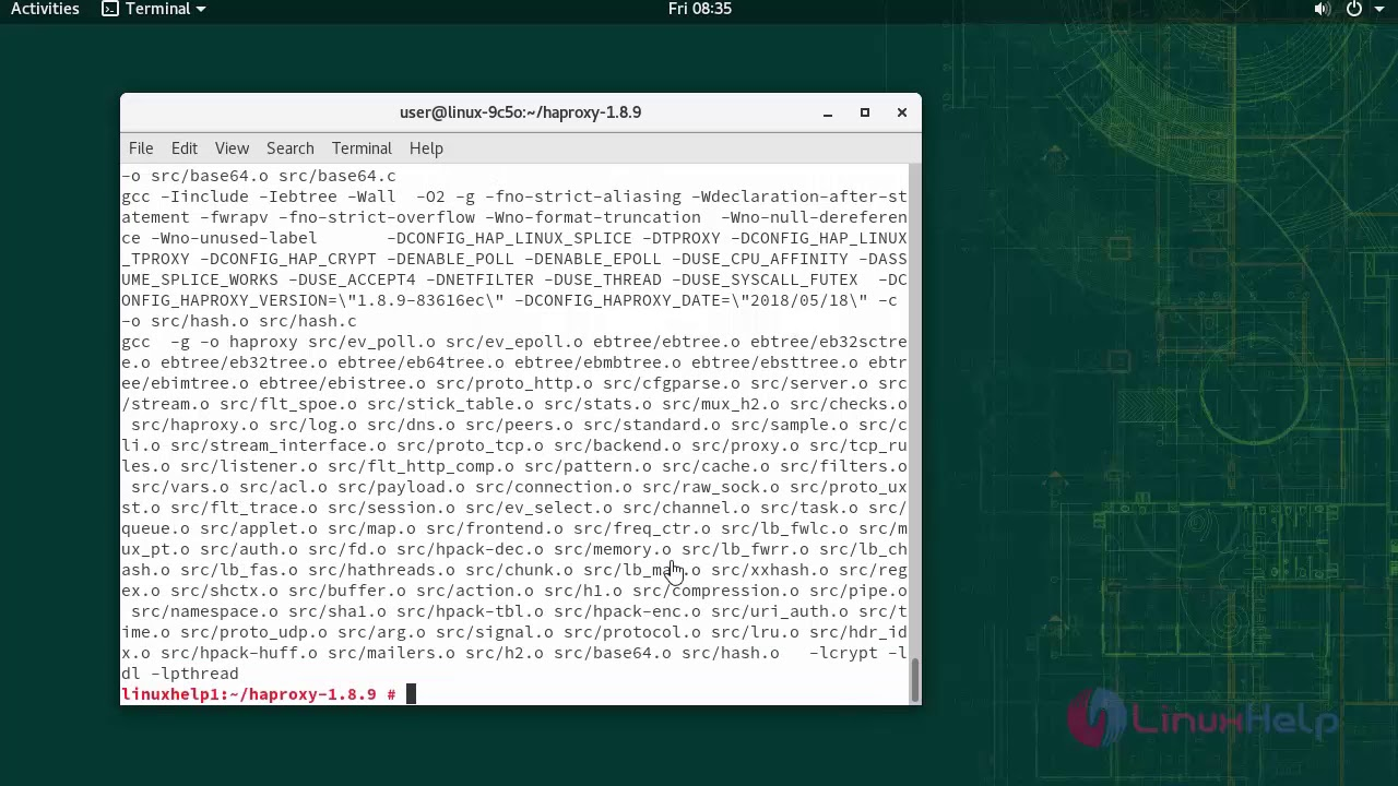 How to install HAproxy v1.8.9 on OpenSUSE 15.0