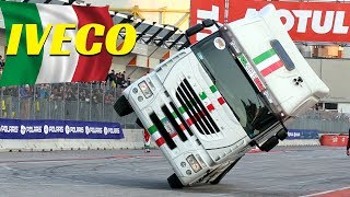 Truck Stunt Show - CRAZY Iveco Stralis  driving on 2 wheels - Motor Show Bologna 2017