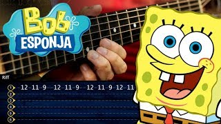 Bob Esponja Guitarra Tutorial | SpongeBob Theme Guitar Tutorial | TABS Christianvib