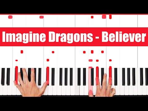 Believer Imagine Dragons Piano Tutorial - EASY