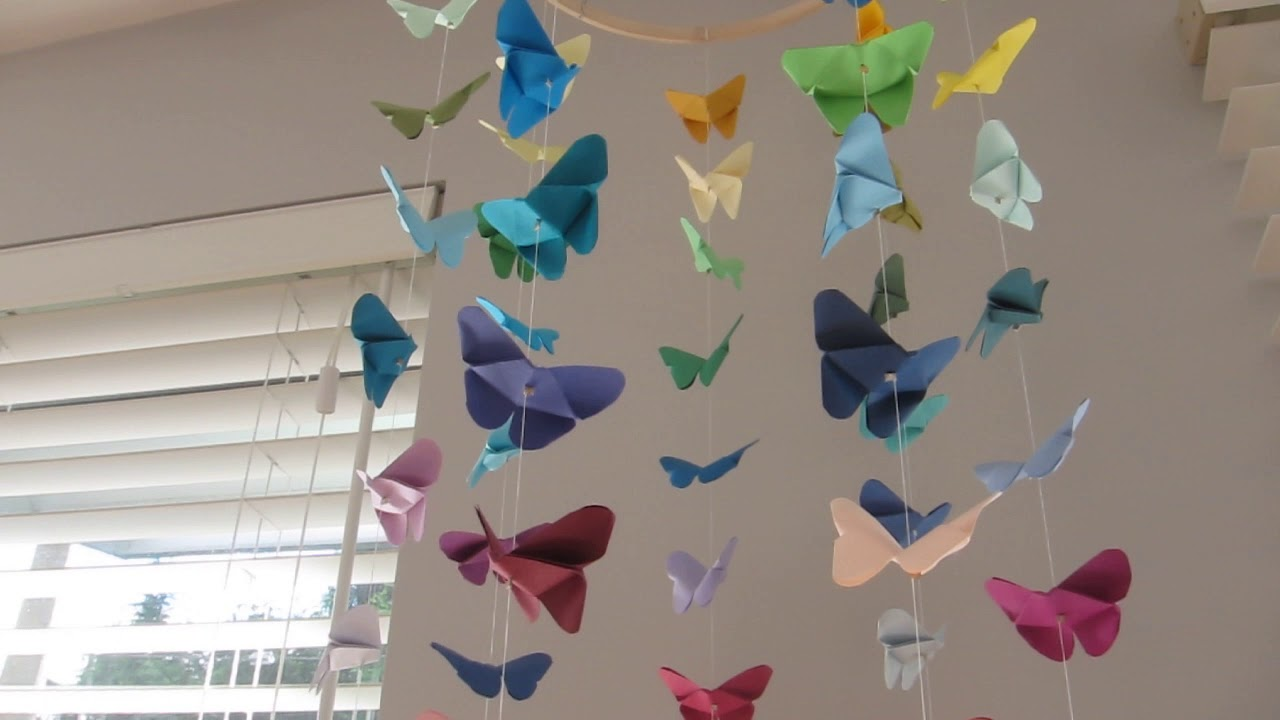 Diy Butterfly Origami Mobile Youtube