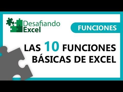 FUNCIONES BÁSICAS de Excel | Funciones en Excel #1